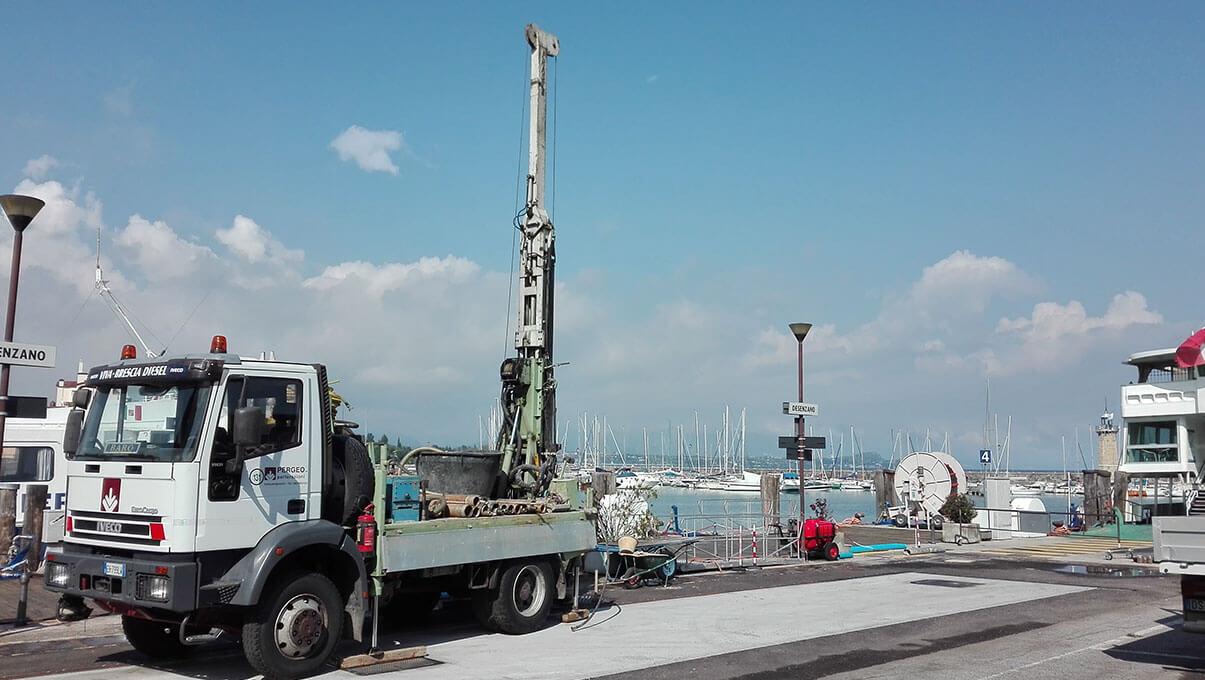 Sondaggi su banchina portuale - DESENZANO DEL GARDA (BS)