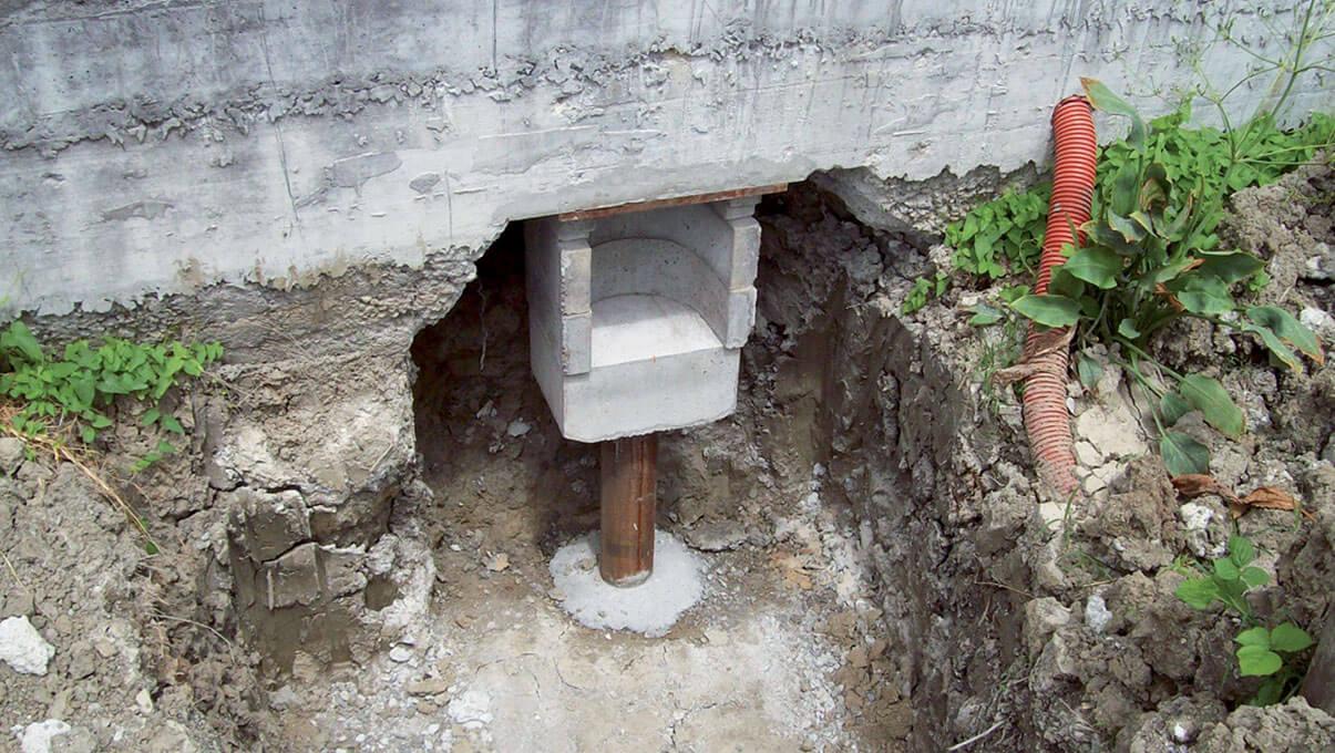 Manufatto in c.a. predisposto all'interno di nicchia muraria