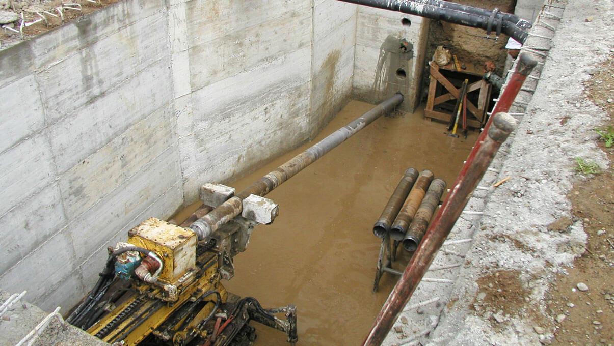 Micropali di sottofondazione per passaggio sotterraneo presso Castello Visconteo - ABBIATEGRASSO (MI)