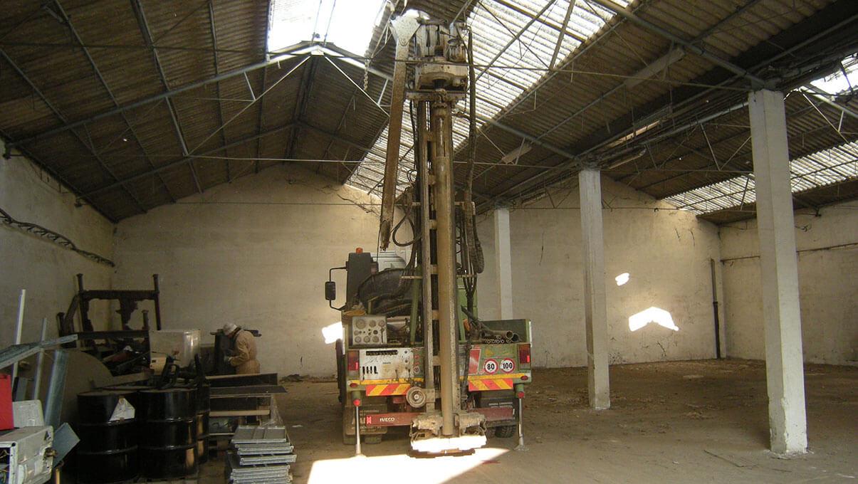 Sondaggi interni a capannone industriale - PERO (MI)