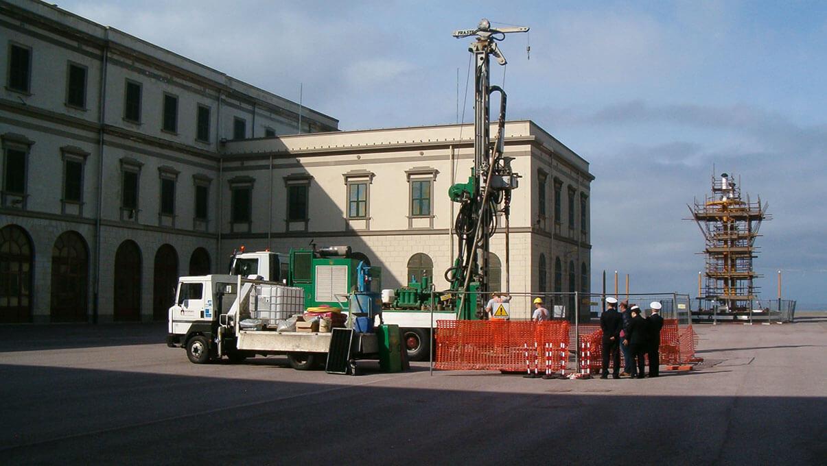 Indagine geotecnica e posa di sonde geotermiche - LIVORNO, Accademia Navale